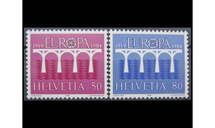 """Швейцария 1984 г. """"Европа С.Е.Р.Т."""""""