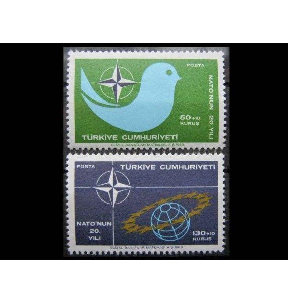 """Турция 1969 г. """"20-летие Североатлантического договора (НАТО)"""""""