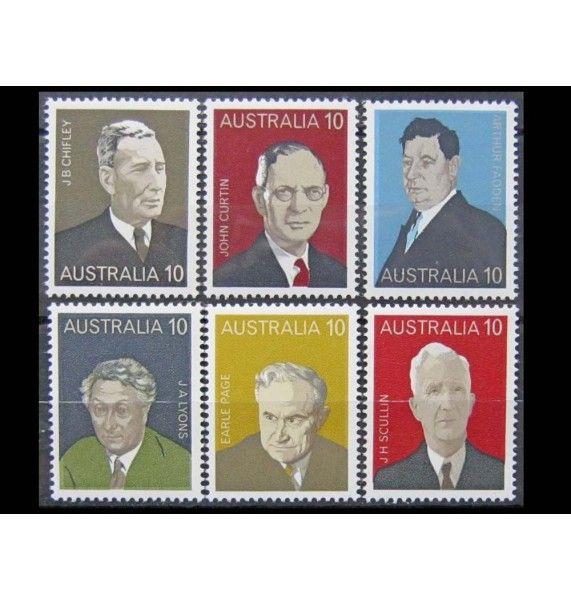 """Австралия 1975 г. """"Премьер-министры Австралии"""""""