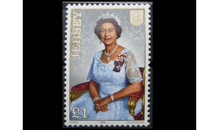"""Джерси 1986 г. """"60-летие королевы Елизаветы II"""""""