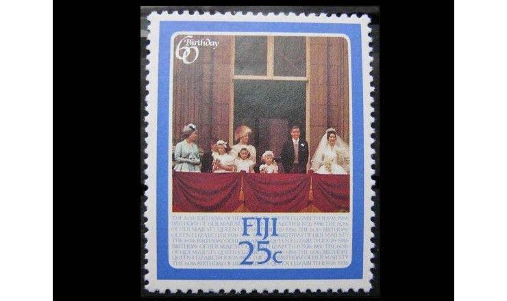 """Фиджи 1986 г. """"60-летие королевы Елизаветы II"""""""