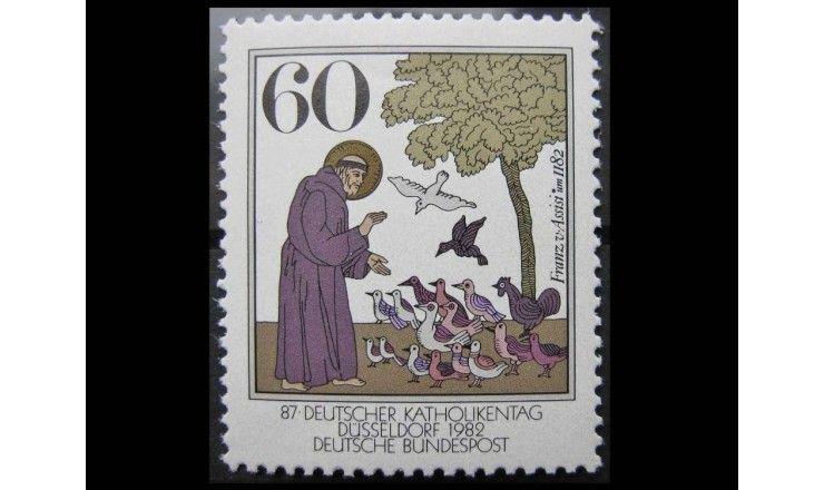 "ФРГ 1982 г. ""800 лет Франциску Ассизскому"""