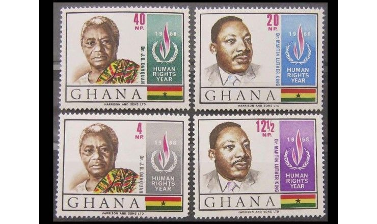 """Гана 1969 г. """"Международный год прав человека"""""""