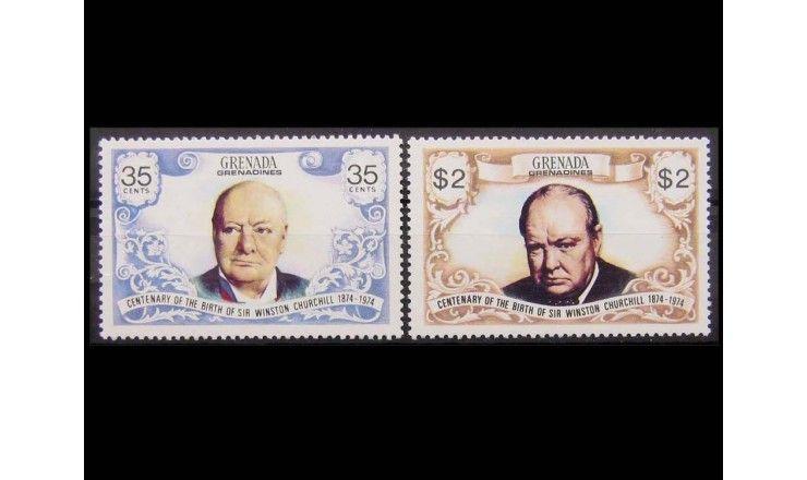 """Гренада и Гренадины 1974 г. """"100-летие Уинстона Черчилля"""""""