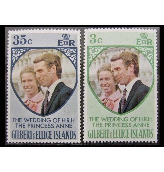 """Острова Гилберта и Эллис 1973 г. """"Королевская свадьба"""""""