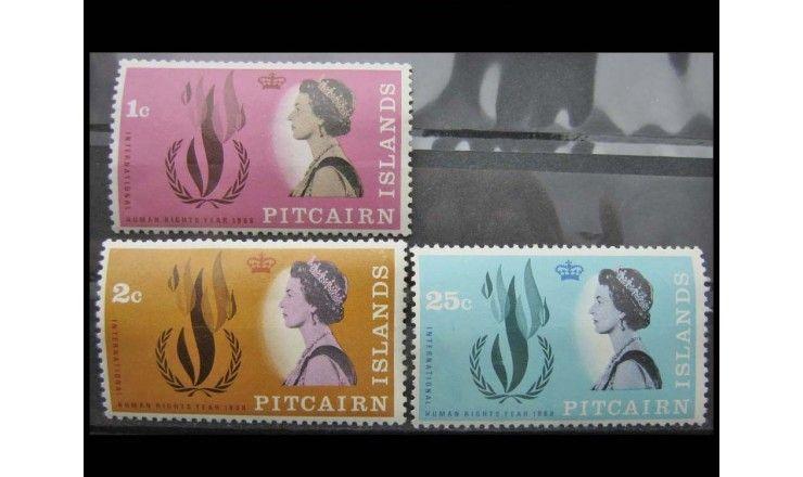 """Острова Питкэрн 1968 г. """"Международный год прав человека"""""""