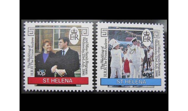 """Остров Святой Елены 1986 г. """"Принц Эндрю и Сара Фергюсон"""""""