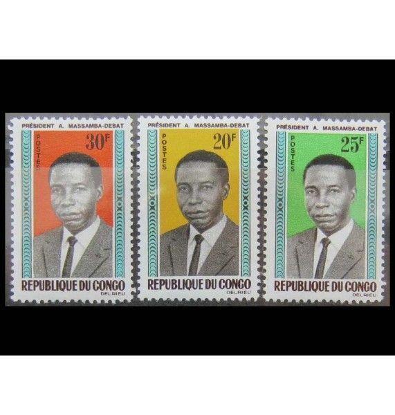 """Республика Конго 1965 г. """"Президент Массамба-Деба"""""""