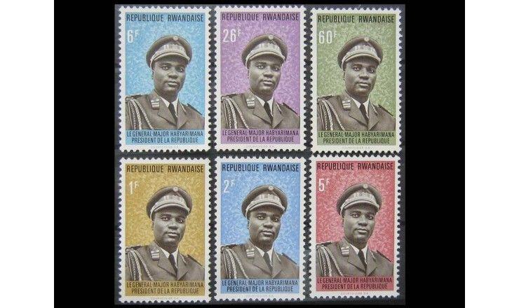 """Руанда 1974 г. """"Президент Жювеналь Хабиаримана"""""""