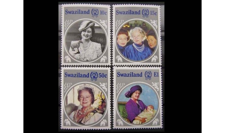 """Свазиленд 1985 г. """"85-летие королевы Елизаветы"""""""