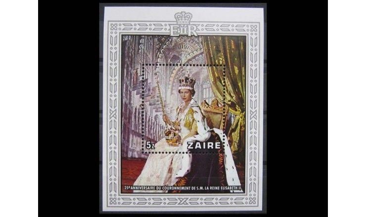 """Заир 1978 г. """"25-летие коронации Елизаветы II"""""""