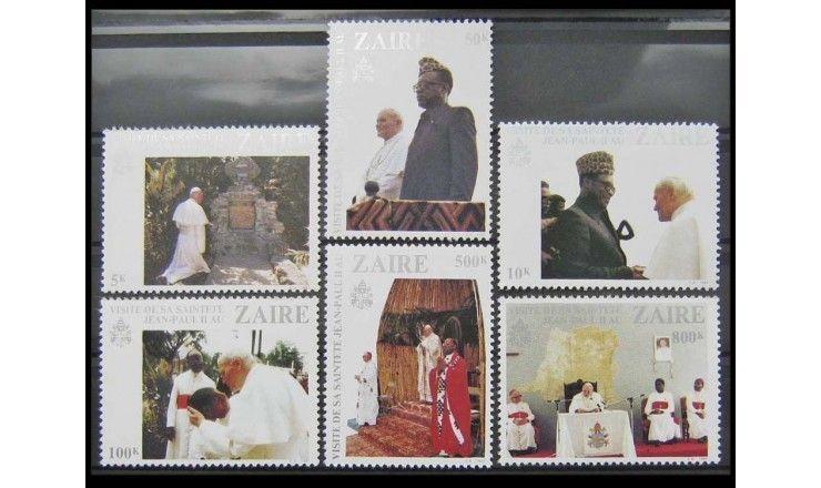 """Заир 1981 г. """"Визит Папы Римского Иоанна Павла II в Заир"""""""