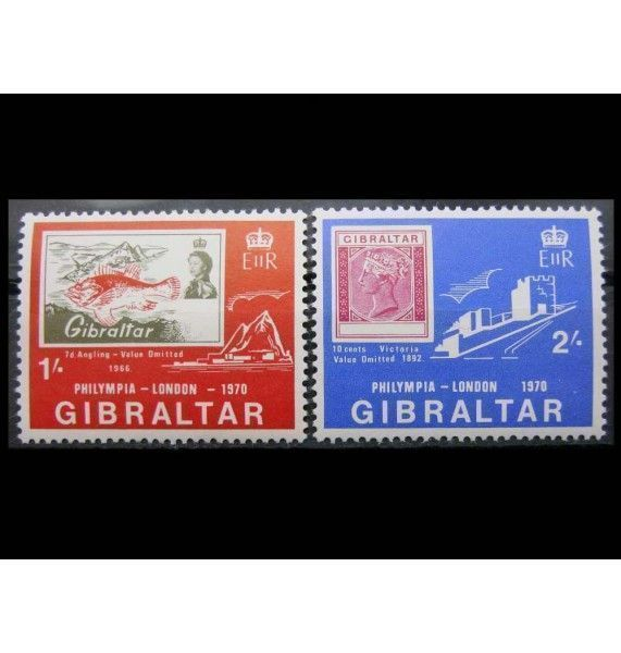 "Гибралтар 1970 г. ""Международная выставка марок PHILYMPIA"""