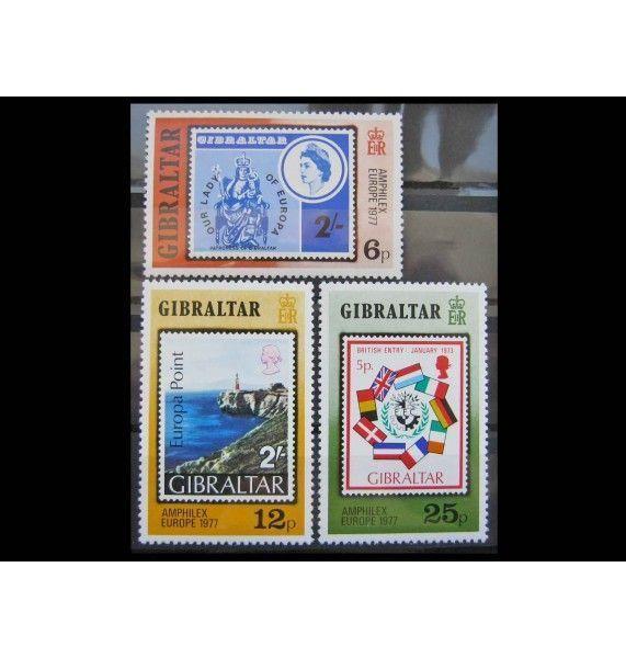 "Гибралтар 1977 г. ""Международная выставка марок AMPHILEX`77"""
