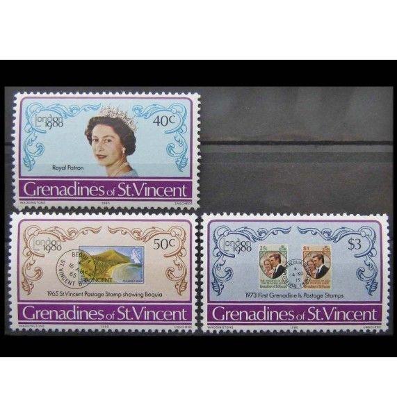 """Гренадины и Сент Винсент 1980 г. """"Выставка марок LONDON 1980"""""""