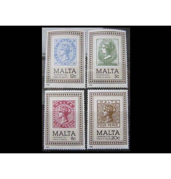 """Мальта 1985 г. """"100 лет почте на Мальте"""""""