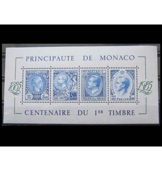 "Монако 1985 г. ""100-летие почтовой марки в Монако"""