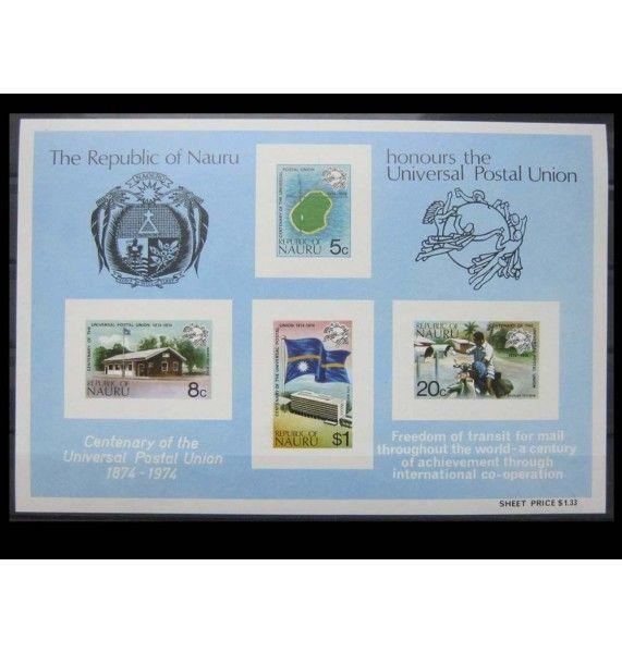 """Науру 1974 г. """"100-летие Всемирного почтового союза"""""""