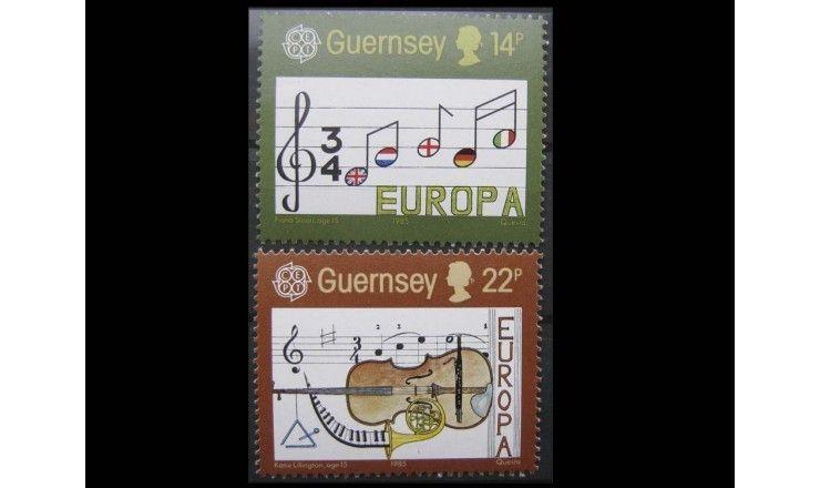 """Гернси 1985 г. """"Европейский год музыки"""""""