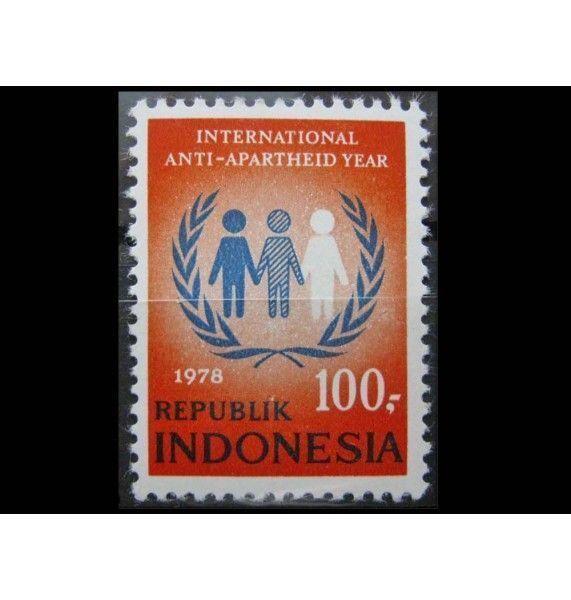"""Индонезия 1978 г. """"Международный год борьбы с апартеидом"""""""