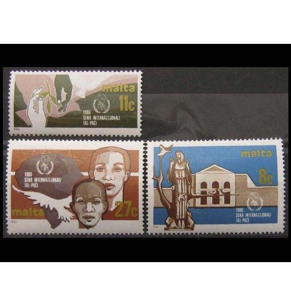 """Мальта 1986 г. """"Международный год мира"""""""