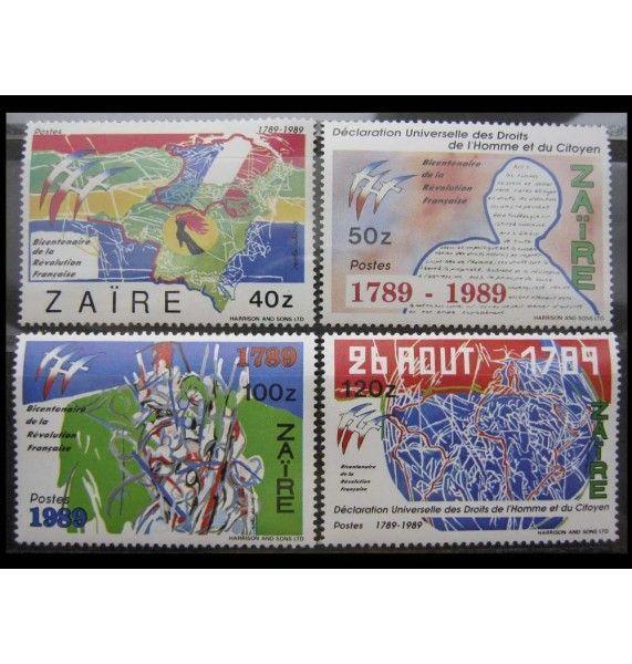 """Заир 1990 г. """"200 лет Великой французской революции (1989)"""""""