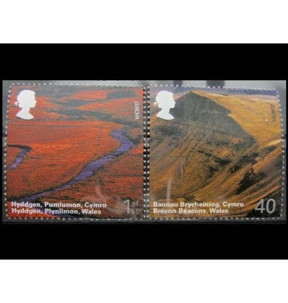 """Великобритания 2004 г. """"Британские пейзажи: Уэльс; Европа"""""""