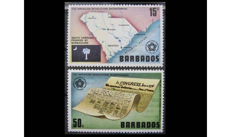 """Барбадос 1976 г. """"200-летие независимости США"""""""