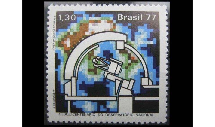 """Бразилия 1977 г. """"150-летие национальной обсерватории"""""""
