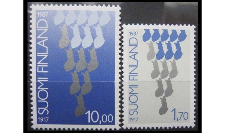 """Финляндия 1987 г. """"70 лет независимости"""""""
