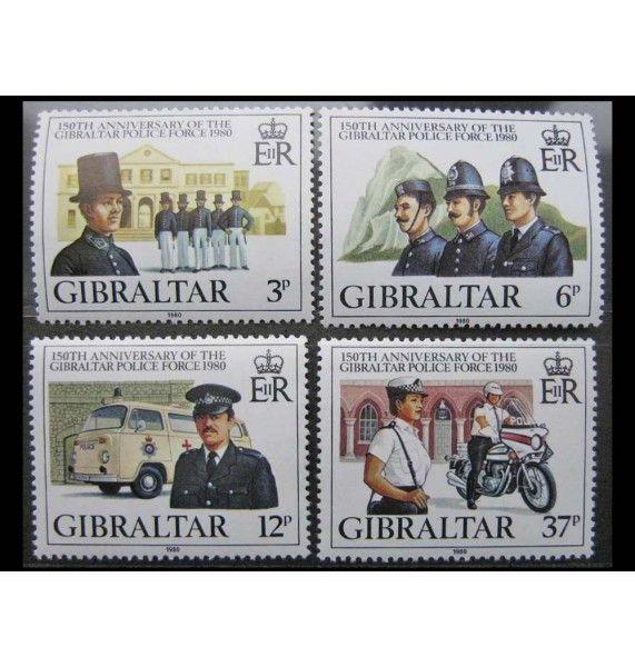 """Гибралтар 1980 г. """"150 лет полиции"""""""