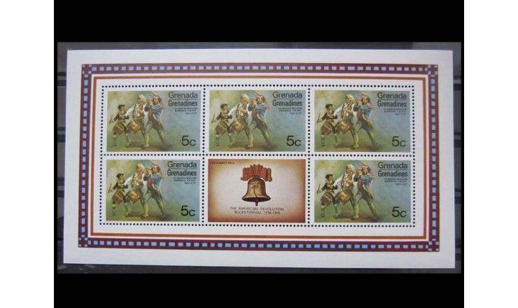 """Гренада и Гренадины 1975 г. """"200 лет независимости США"""""""