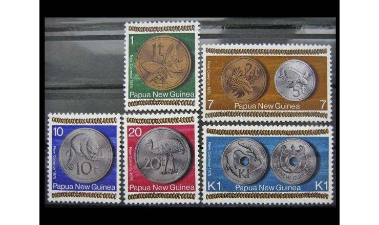 """Папуа-Новая Гвинея 1975 г. """"Введение новой валюты"""""""
