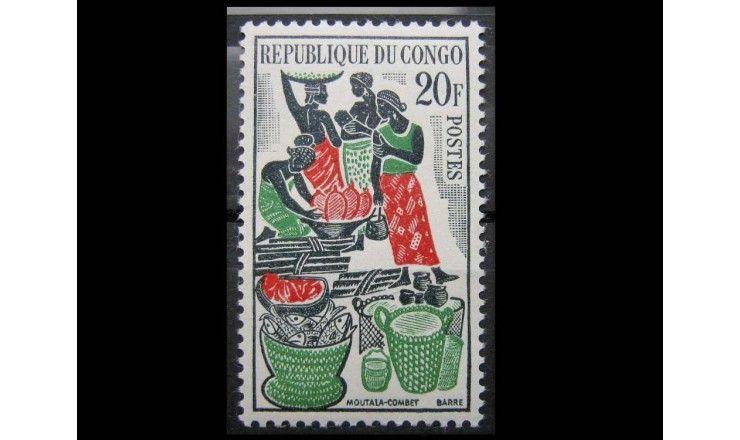 """Республика Конго 1962 г. """"Рынок"""""""