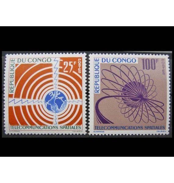 """Республика Конго 1963 г. """"Космическая связь"""""""