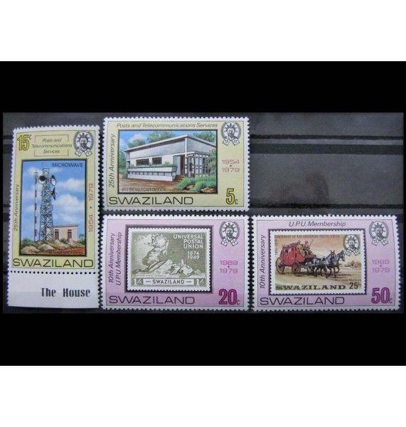 """Свазиленд 1979 г. """"Всемирный почтовый союз, почта и телеграф"""""""