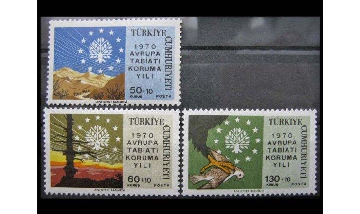 """Турция 1970 г. """"Европейский год охраны природы"""""""