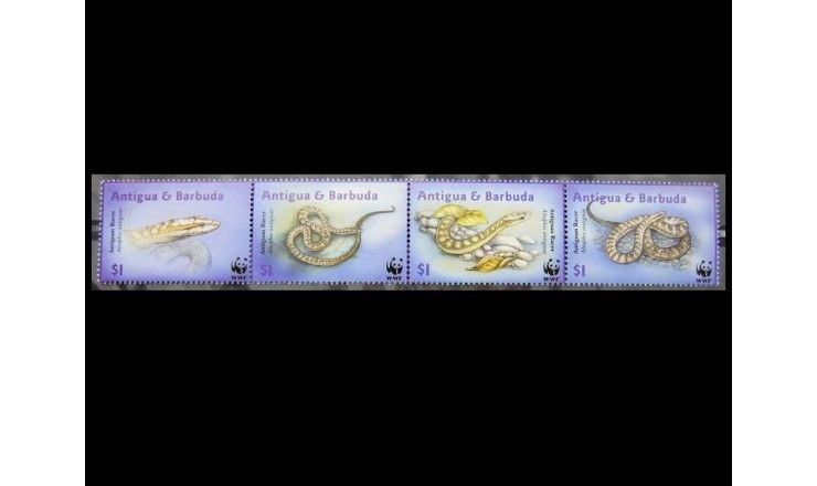 """Антигуа и Барбуда 2002 г. """"Антигуанский полоз"""""""