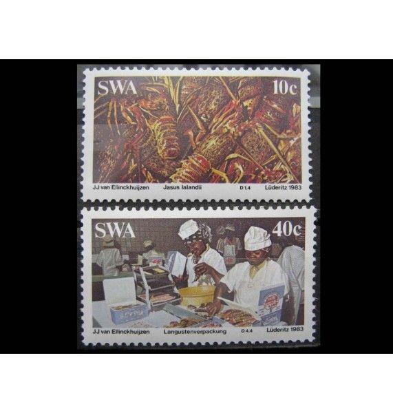 """Юго-Западная Африка 1983 г. """"Производство лобстеров"""""""