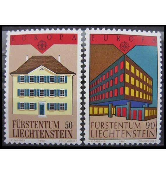 """Лихтенштейн 1990 г. """"Европа: Почтовые отделения"""""""