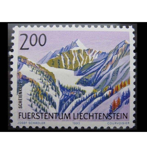 """Лихтенштейн 1993 г. """"Горы"""""""