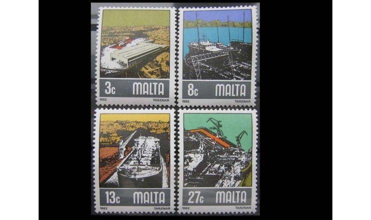 """Мальта 1982 г. """"Судостроительная промышленность"""""""
