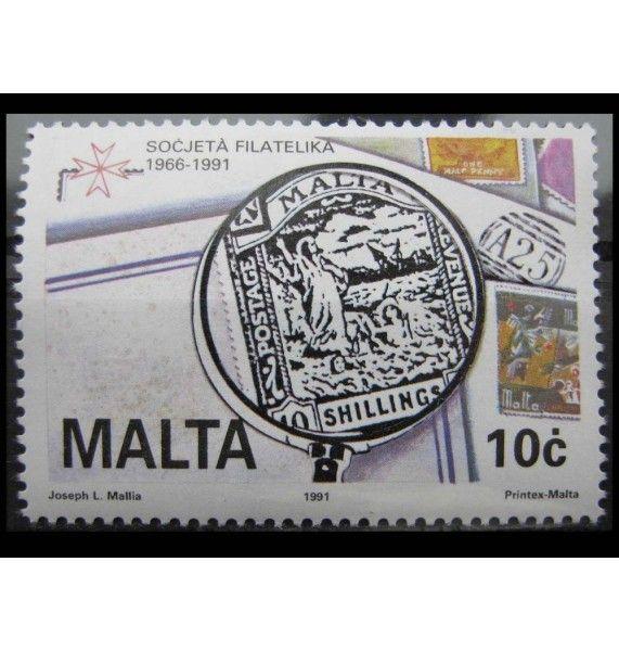 """Мальта 1991 г. """"25 лет обществу филателистов"""""""