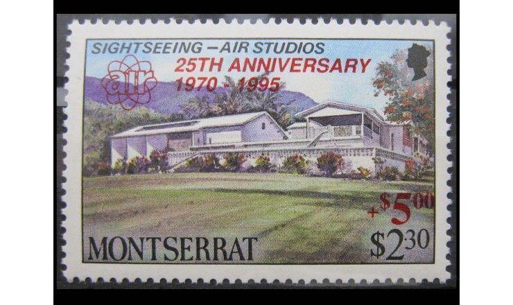 """Монтсеррат 1995 г. """"25 лет звукозаписывающей компании AIR Studios"""" надпечатка"""