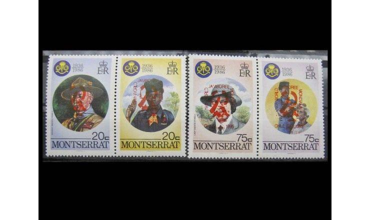 """Монтсеррат 1998 г. """"Джамбори, Чили (1999)"""" надпечатка"""