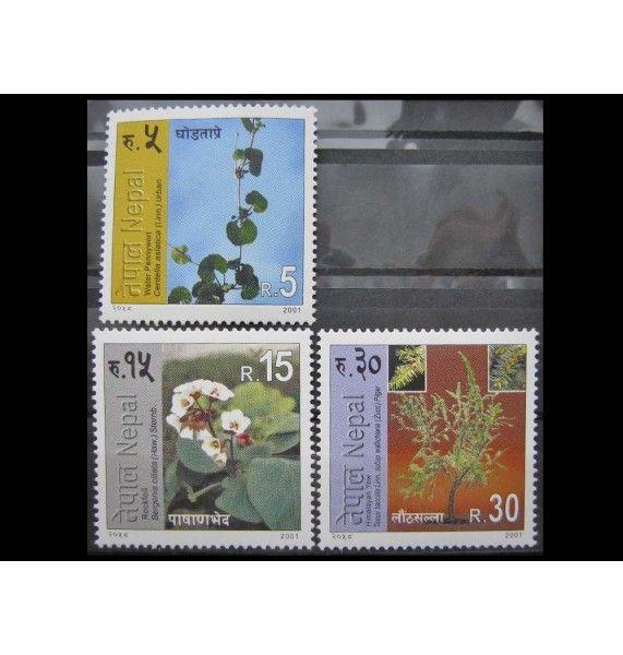 """Непал 2001 г. """"Местные цветковые растения"""""""