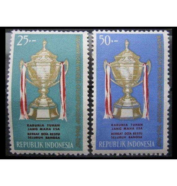 """Индонезия 1964 г. """"Чемпионат мира по бадминтону, Токио"""""""