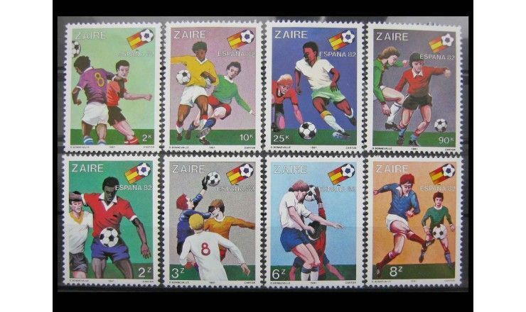"""Заир 1981 г. """"Чемпионат мира по футболу 1982, Испания"""""""