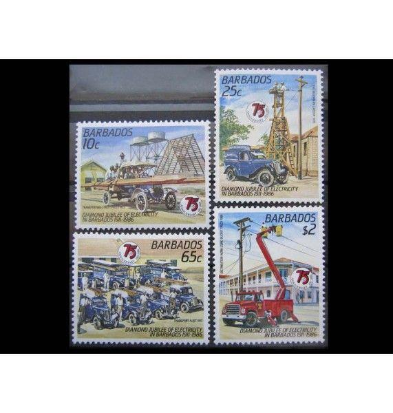 """Барбадос 1986 г. """"75-летие электричества в Барбадосе"""""""