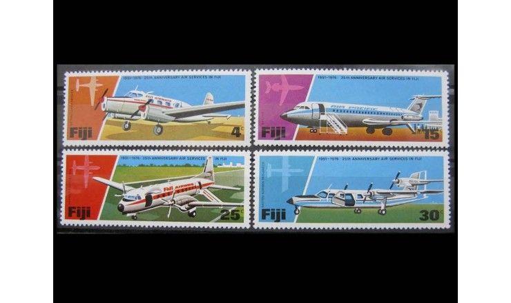 """Фиджи 1976 г. """"Авиаперевозки в Фиджи: Авиалайнеры"""""""